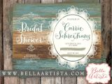 Country Chic Bridal Shower Invitations Rustic Bridal Shower Invitation Country Chic Vintage Lace