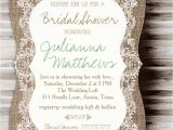 Country Chic Bridal Shower Invitations Rustic Burlap Lace Bridal Shower Burlap Rustic Lace
