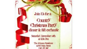 Country Christmas Party Invitations Country Mason Jar Christmas Party Invitations Zazzle