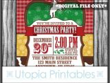 Country Christmas Party Invitations Cowboy Christmas Invitation Country Western theme Holiday