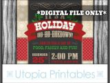 Country Christmas Party Invitations Holiday Ho Ho Hoedown Christmas Invitation Country Western