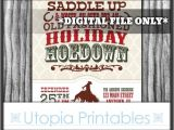 Country Christmas Party Invitations Holiday Hoedown Christmas Invitation Country Western