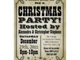 Country Christmas Party Invitations Rustic Vintage Country Christmas Party Invitation