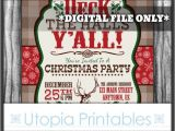 Country Christmas Party Invitations Western Christmas Invitation Deck the Halls Y 39 All Country