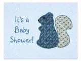 Country Style Baby Shower Invitations Cute Country Style Blue Squirrel Baby Shower 4 25×5 5