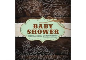 Country themed Baby Shower Invitations Rustic Country themed Baby Shower 5×7 Paper Invitation