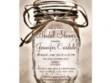 "Country themed Bridal Shower Invitations Country Mason Jar Rustic Bridal Shower Invitations 4 5"" X"