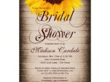 Country themed Bridal Shower Invitations Rustic Country Sunflower Bridal Shower Invitations