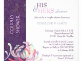 Couples Bridal Shower Invitation Wording Samples asian Mum Purple White Couples Shower Invitation 5 25