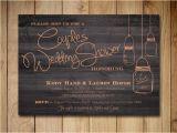 Couples Wedding Shower Invitations Templates Free Couples Shower Invitation Mason Jar Wedding Shower