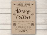 Couples Wedding Shower Invites Couples Shower Invitation Rustic Couples Shower