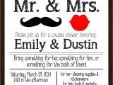 Couples Wedding Shower Invites Printable Mr Mrs Couples Wedding Shower Invitation Lips