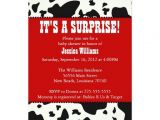 Cow Print Baby Shower Invitations Cow Print Baby Shower 5×7 Paper Invitation Card