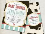 Cow Print Baby Shower Invitations Cow Print Baby Shower Invitation Milkaholic Cow by