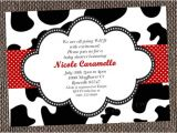 Cow Print Baby Shower Invitations Cow Print Party Invitations Printable or Custom Printed by