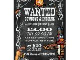 Cowboy and Indian Party Invitations Chalkboard Cowboys Indians theme Party Invite Zazzle Com