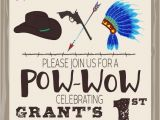 Cowboy and Indian Party Invitations Cowboys Indians Birthday Party Invitation by