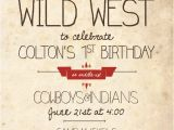 Cowboy and Indian Party Invitations Items Similar to Cowboys and Indians Birthday Invitation