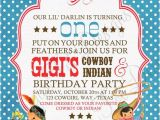 Cowboy and Indian Party Invitations Vintage Cowboys and Indians Invitation Cowboy by