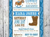 Cowboy Baby Shower Invites Lil Cowboy Baby Shower Invitation Custom Printable