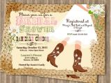 Cowboy Boot Bridal Shower Invitations Cowboy Boot S Bridal Shower Printable Invitation by