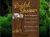 Cowboy Boot Bridal Shower Invitations Printable Western Bridal Shower Invitation Flowers