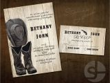 Cowboy Boot Wedding Invitations Country Wedding Invitation Print Printable Invitation