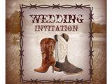 Cowboy Boot Wedding Invitations Cowboy Boots Western Country Wedding Invitation 5 25