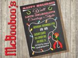 Cowboy Christmas Party Invitations Chalkboard Western Cowboy Christmas Party Invitations by