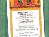 Cowboy Christmas Party Invitations Christmas Cowboy Boots Holiday Party Invitations are