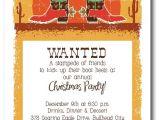 Cowboy Christmas Party Invitations Christmas Cowboy Boots Holiday Party Invitations