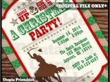 Cowboy Christmas Party Invitations Cowboy Christmas Invitation Country Western by