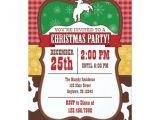 Cowboy Christmas Party Invitations Cowboy Christmas Party Invitation Zazzle