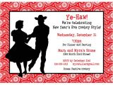 Cowboy Christmas Party Invitations Western Hoedown Invitation