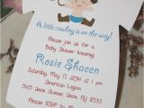 Cowboy themed Baby Shower Invitations Cowboy themed Baby Shower Esie Invitation Baby Cowboy