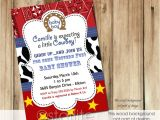Cowboy themed Baby Shower Invitations Starlite Printables Invitations Stationery Cowboy