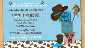 Cowboy themed Baby Shower Invitations Western Baby Shower Invitations Template Resume Builder
