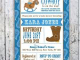Cowboy themed Baby Shower Invites Cowboy themed Baby Shower Items for Western theme