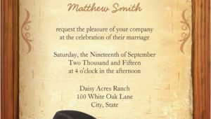 Cowboy Wedding Invitations Templates 28 Western Wedding Invitation Templates Free Sample