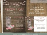 Cowboy Wedding Invitations Templates Printable Country Western Wedding Invitations Set Cowboy Boots