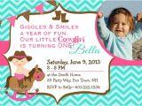 Cowgirl 1st Birthday Invitations 1st Birthday Cowgirl Party Invitations by asyouwishcreations4u