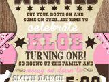 Cowgirl 1st Birthday Invitations Custom Cowgirl First Birthday Invitation