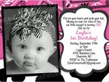 Cowgirl 1st Birthday Invitations Little Cowgirl Birthday Invitation Pink by