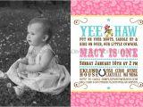 Cowgirl 1st Birthday Invitations Vintage Cowgirl Printable Photo Invitation Dimple Prints