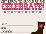 Cowgirl Birthday Invitations Templates 8 Best Of Printable Western Birthday Invitations