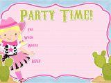 Cowgirl Birthday Invitations Templates Free Printable Party Invitations Free Cowgirl Invitations