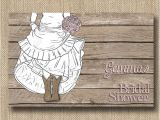 Cowgirl Bridal Shower Invitations Bride In Boots Bridal Shower Invitations or by therocheshop