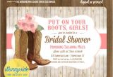 Cowgirl Bridal Shower Invitations Cowgirl Boots Bridal Shower Invitation Country Western