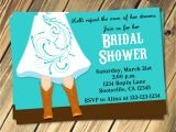 Cowgirl Bridal Shower Invitations Cowgirl Boots Wedding Bridal Shower Invitation Choose Your