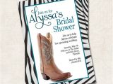 Cowgirl Bridal Shower Invitations Items Similar to Cowgirl Bridal Shower Invitation